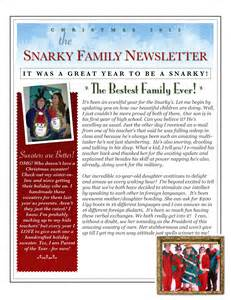 preview of fake holiday newsletter snarky in the suburbs