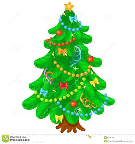 weihnachtsbaum mit hellen spielwaren im wei 223 en hintergrund