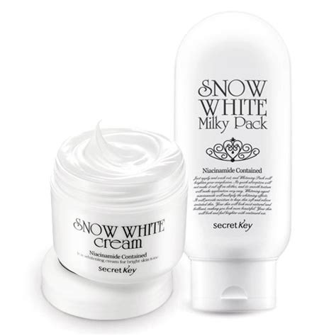 Snow White Pack 200 Gram Original Korea secret key snow white whitening pack