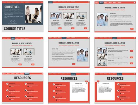 Open Office Presentation Templates Card Layout by Here Are Some Free E Learning Templates To Speed Up Your