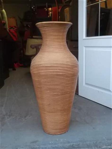 Wicker Floor Vase by Wicker Floor Vase Antique Saleroom Ebay