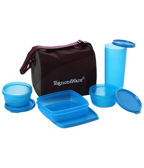 Lunch Box Blue signoraware blue best lunch box jumbo with bag buy