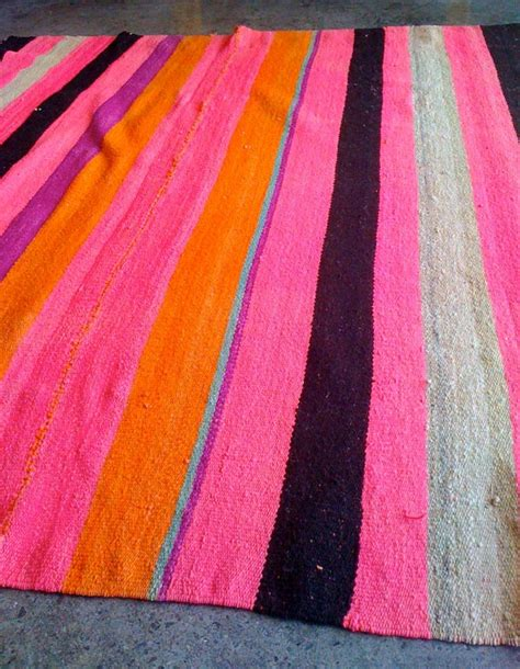Bolivian Rugs by Bolivian Rug In Pink Orange Black Purple Taupe And