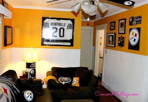 steelers bedroom decor pittsburgh steelers football themed tv room hometalk