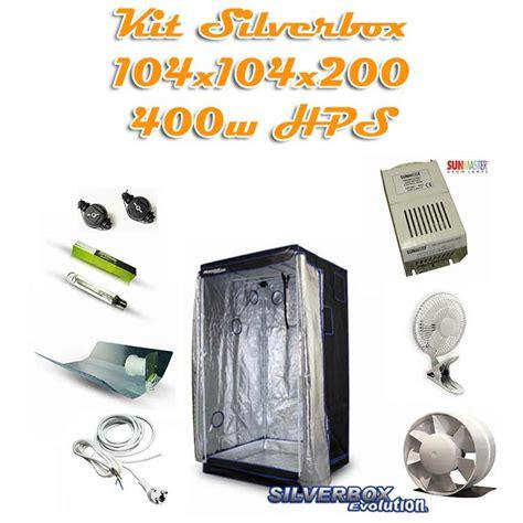 chambre de culture 1m2 kit silverbox evolution 1m2 400w hps kit de culture pack
