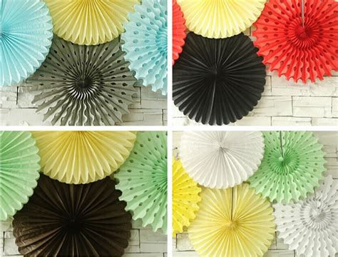 Tissue Decoration Ideas by Hanging Tissue Paper Fans Diy Backdrop Tissue Paper Fans
