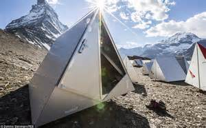 Camping Pod Interior Space Age Style Aluminum Tents Provide Shelter At New Base