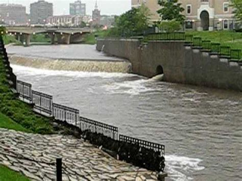 Kansas City Missouri Records Record Flooding Of Indian Creek In Kansas City Missour