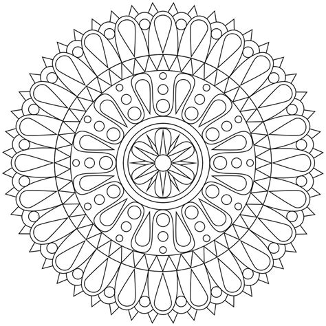 stress relief coloring pages easy these printable mandala and abstract coloring pages