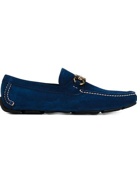 ferragamo shoes ferragamo parigi driving shoes in blue for lyst
