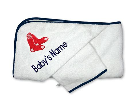 Sox Bathroom Accessories by Personalized Boston Sox Towel Mlb Hooded Towel Set