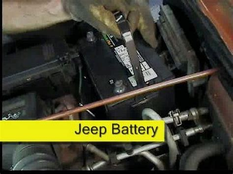 Jeep Battery Jeep Battery Replacement Wrangler Tj How To Diy