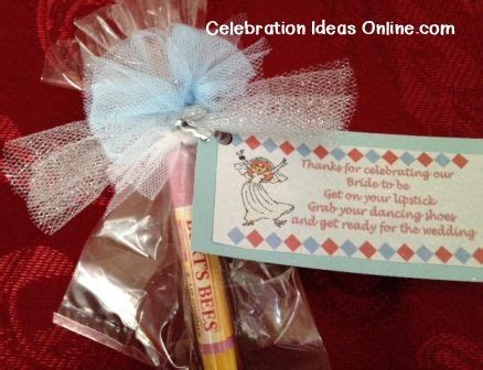 bridal shower favors to make yourself bridalshower favor to make yourself using lip gloss or a