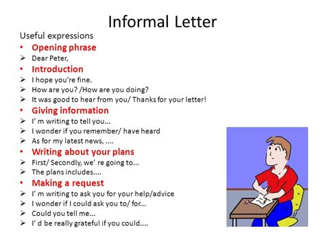 Useful Phrases For Informal writing writing tasks ppt