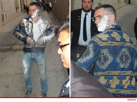 adam levine blasted in the face with sugar hollyscoop adam levine sugar bombed at jimmy kimmel suspect
