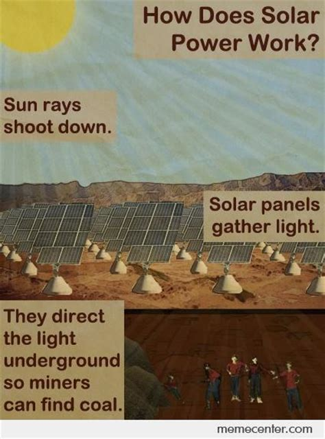 Solar Meme - how does solar power work by ben meme center