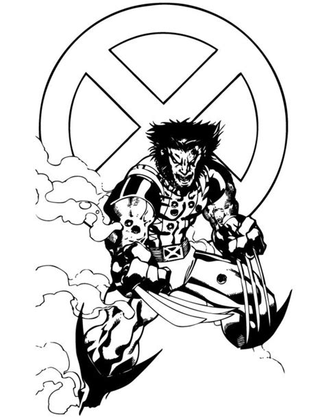 wolverine logan  coloring pages  print colorpagesorg