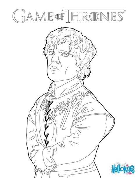 thrones coloring book pages of thrones tyrion lannister coloring pages for