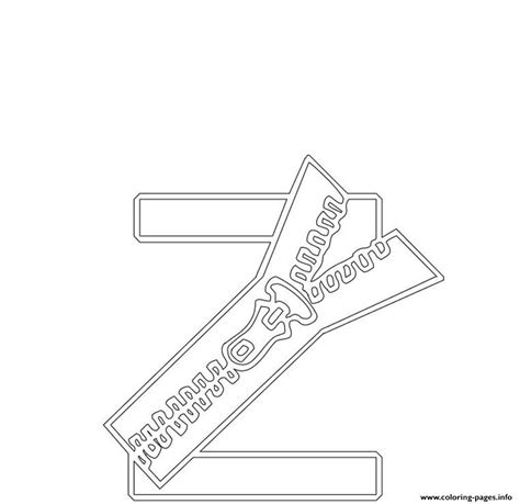 free zipper alphabet s4cdc coloring pages printable