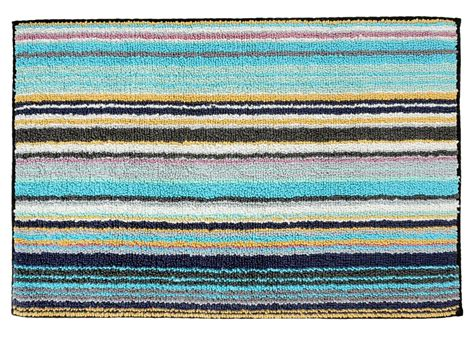 striped bath rug missoni home jazel 170 turquoise blue striped bath rug