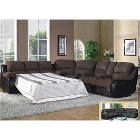sectional sofas with recliners and sleeper 1489 modern brown microfiber sleeper reclining sofa