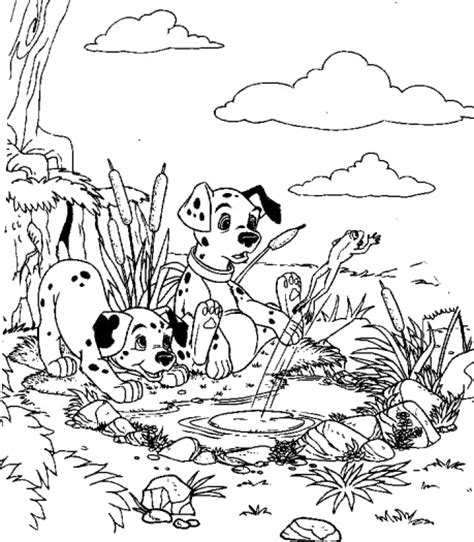 17 best images about 101 dalmatians coloring pages on outstanding journey of puppies 17 101 dalmatians coloring