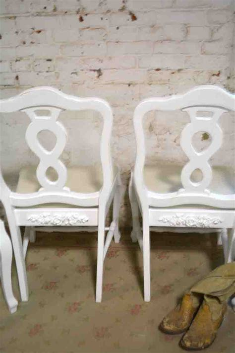 Dining Chairs Shabby Chic Painted Cottage Chic Shabby Dining Chairs Chr122 110 00 The Painted Cottage