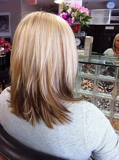 midlength blonde reverse ombre 30 ombre hair color ideas
