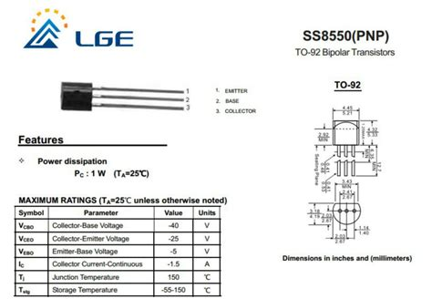 ss8050 transistor equivalent datasheet silicon pnp bipolar transistor ss8550 buy pnp bipolar transistor silicon pnp bipolar