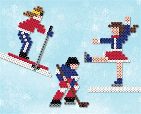 perler bead sports patterns 17 best images about sports on winter sport