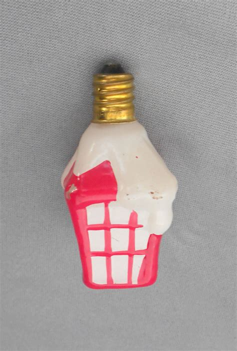 1980s vintage figural glass christmas lantern light bulb