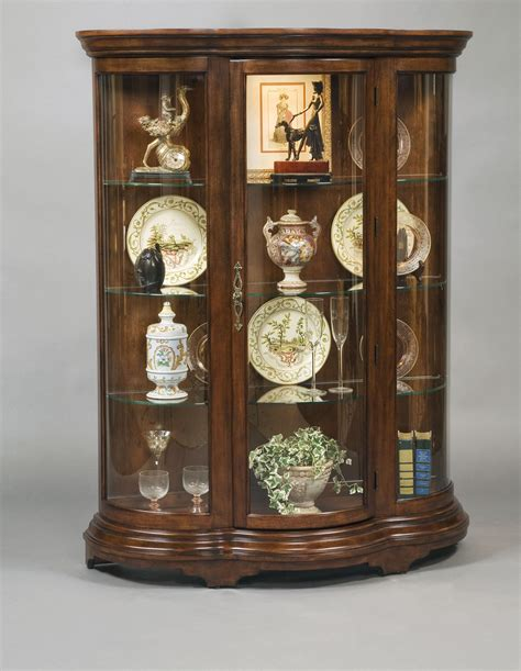 Pulaski Curved Glass Curio Cabinet by Pulaski Curved Front Mantel Curio By Oj Commerce 21367