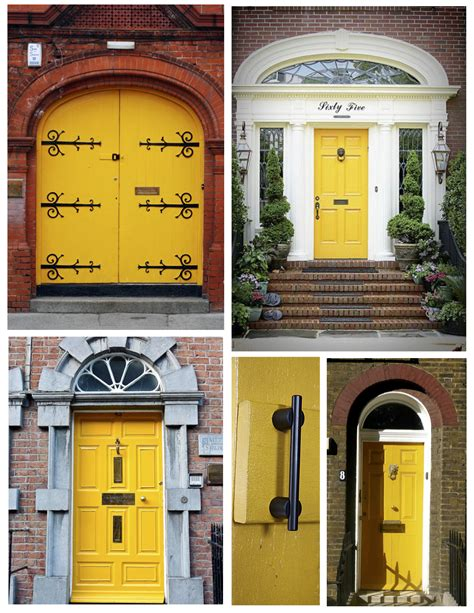 Pictures Of Front Doors On Houses exterior color inspirations the bright amp bold yellow door