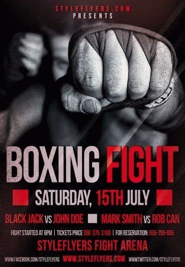 boxing poster template free boxing fight psd flyer template 8850 styleflyers
