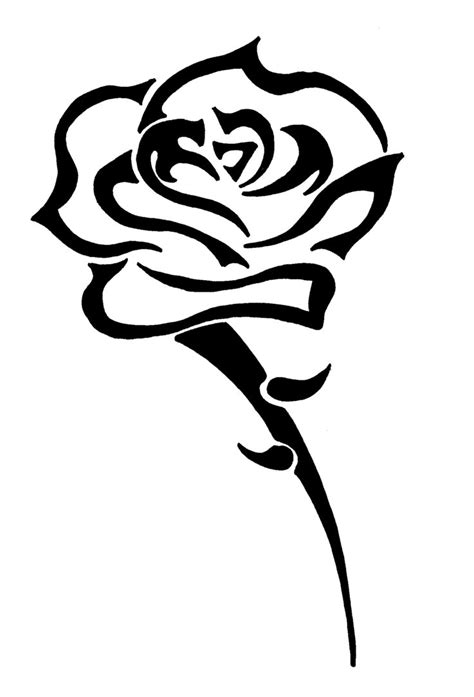 rose with tribal tattoo designs tattoos designs ideas and meaning tattoos for you