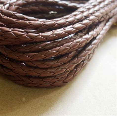 Round Braid leather supplies wholesale, DIY jewelry Rope supplies, 5mm, light Brown, Quality