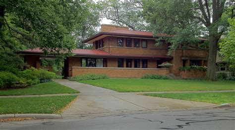 frank lloyd wright prairie harry s adams house 710 augusta boulevard oak park il