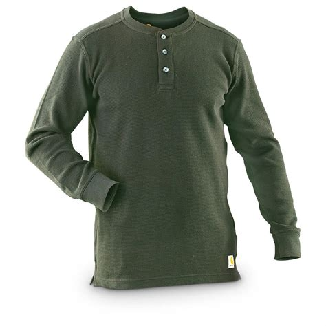 shirt knit carhartt s textured knit henley 607666 t shirts at