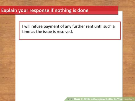 Rent Increase Letter Reply how to write a complaint letter to your landlord 13 steps
