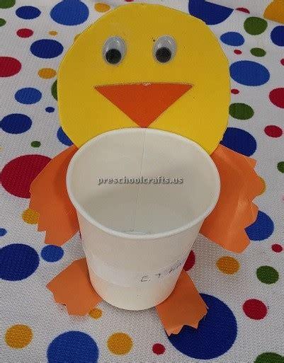paper cup crafts for preschoolers duck craft ideas kindergarten paper cup craft for