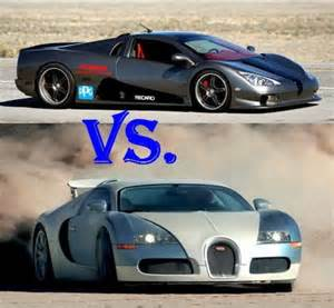 Bugatti Veyron Vs Ssc Ultimate Aero Ssc Ultimate Aero Vs Bugatti Veyron 16 4 Infoauto 2008