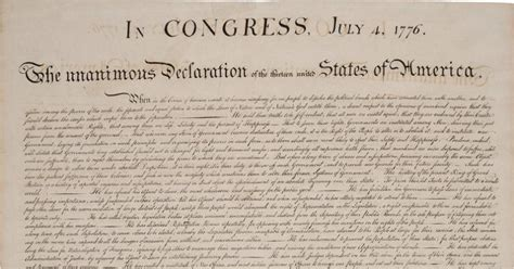 declaration of independence up letter exle declaration of independence copy fetches 514g at auction