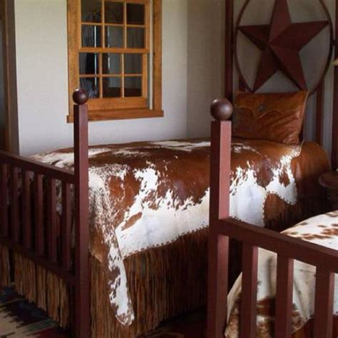 cowhide beds the western decor great cowhide spread my style