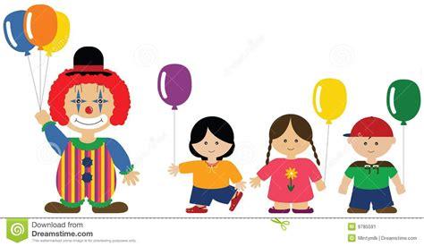 imagenes de niños jugando con globos clown giving balloons to children stock image image 9785591