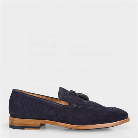 mens suede loafers paul smith s navy suede conway tasseled loafers in