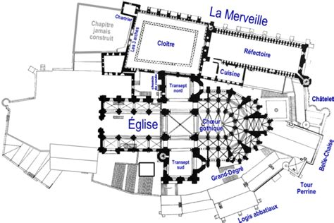 le layout definition plan des divers niveaux du mont saint michel d 233 finition