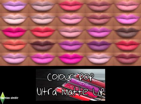 color pop ultra matte lipsticks by bernie s simblr sims