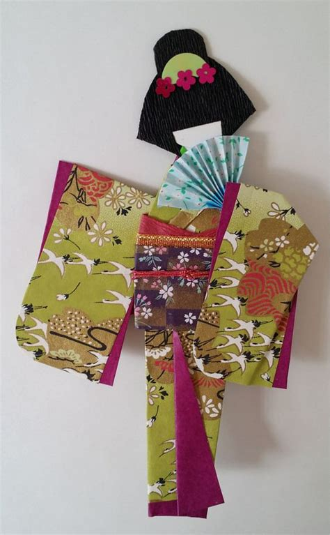 Paper Doll Origami - washi ningyo traditional japanese kimono paper by www