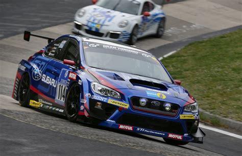 subaru nurburgring subaru wrx sti claims 3rd class win at nurburgring 24