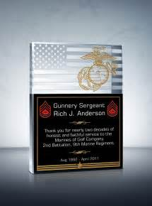 Unique military service plaques and thank you quotes diy awards